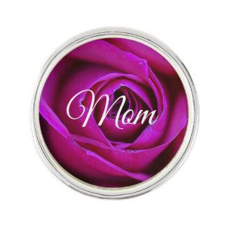 Rose Mom Lapel Pin