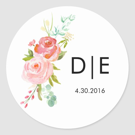 Rose Monogram Label