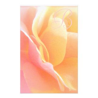 Rose Monogram Stationary Custom Stationery