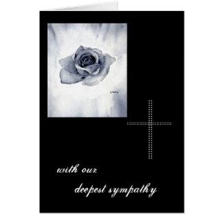 ROSE mourning map Greeting Card