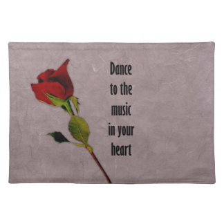 Rose Music in Your Heart Place Mat