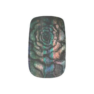 Rose nails minx nail art