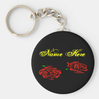 Rose Name Here Keychain
