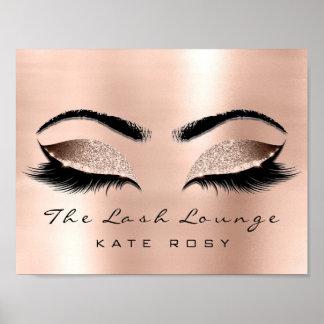 Rose Name Makeup Beauty Studio Lashes Salon Poster
