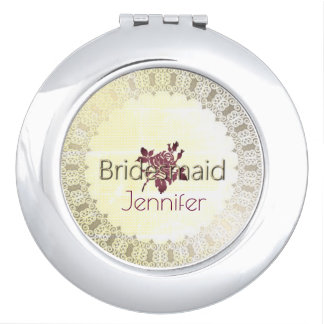 Rose-Needlepoint_Bridesmaid-Monogram_Burgundy Compact Mirrors