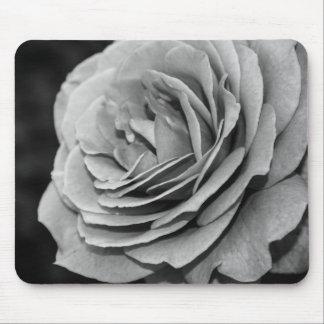 Rose noir et blanc Mousepad Tapis De Souris