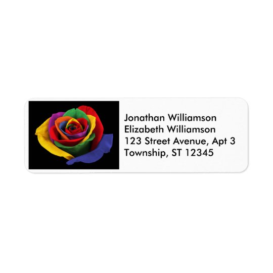 Rose of a Different Colour Return Address Labels