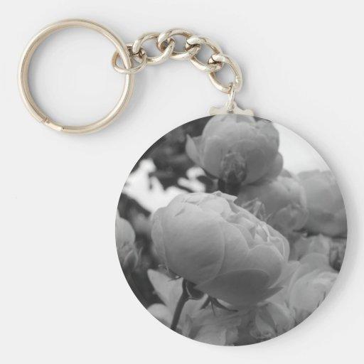 Rose of Love B/W Key Chains
