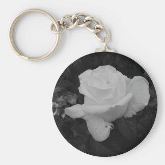 Rose of Love B/W Keychain