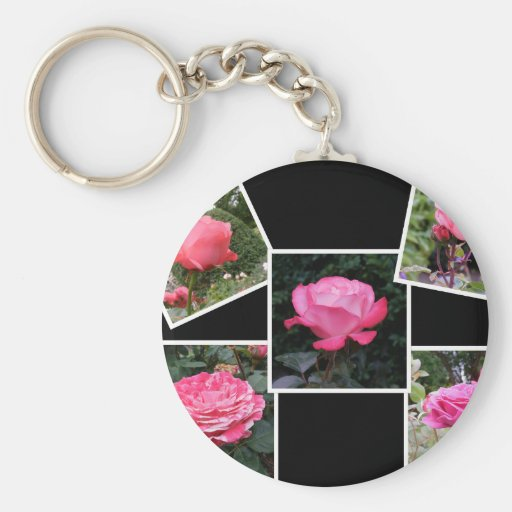 Rose of Love Collage Key Chains