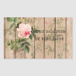 Rose of Orleans Ecru Mason Jar and Daffodils Sticker