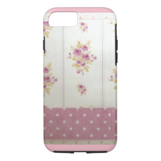 Rose of pink and iPhone7 case of dot handle