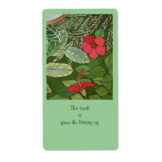 Rose of Sharon Jungle book plate Shipping Label