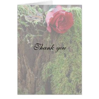 Rose on a stump card
