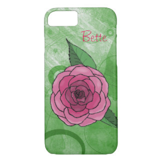 Rose On Green iPhone 7 Case