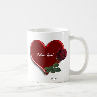 Rose On Hearts 4 Classic White Coffee Mug