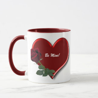 Rose On Hearts 4A Mug