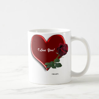 Rose On Hearts Valentine Mug