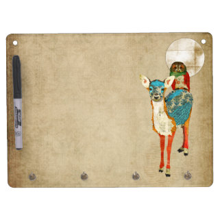 Rose Owl Azure Fawn Full Moon Dry Erase Board