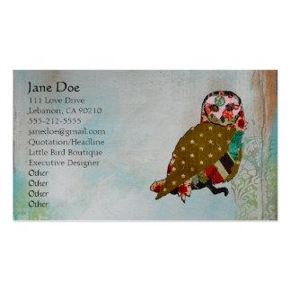 Rose Owl Boho Business Cards