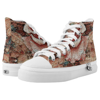 Rose - Painting Style - Art Gift High Tops