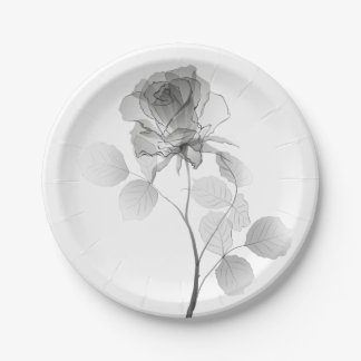 Rose Paper Plate