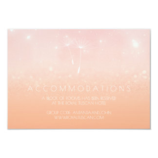Rose Pastel Peach Ombre Wedding Hotel Accomodation Card