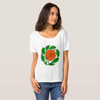 Rose Peach design on Women's Short-Sleeved T-Shirt