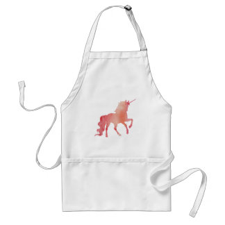 ROSE PEACH WATERCOLOR UNICORN WITH CLOUDS STANDARD APRON