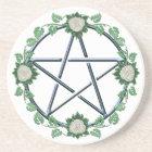 Rose Pentagram Pentacle Pagan Witch Altar Paten Coaster