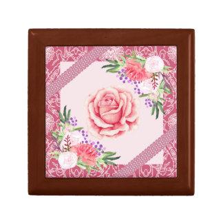 Rose Peony Blush Pink Purple Ribbons Floral Gift Box