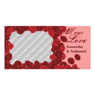Rose Petal Customizable Photo Card