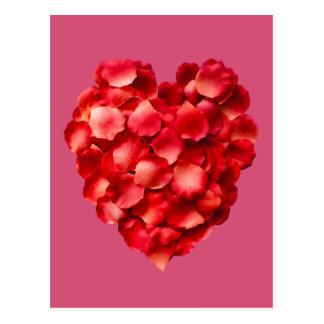 Rose Petal Heart Postcard