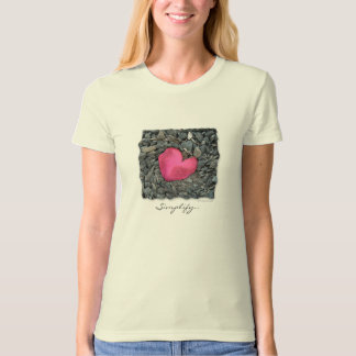 Rose Petal Heart T-Shirt