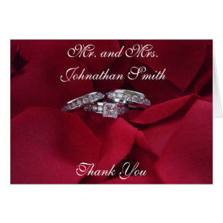 Rose Petal Thank You Card