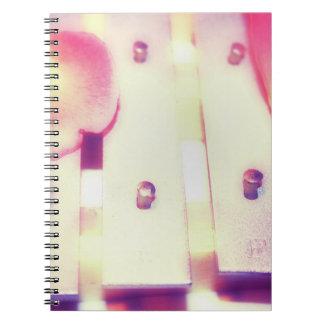 Rose Petals on Metal Bells Purple Pink themed Notebook