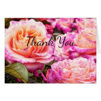 Rose Petals Thank You Card