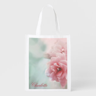 Rose photo Personalized reusable shopping bag