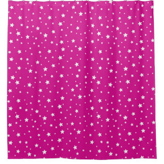 Rose Pink and White Stars Celestial Sky