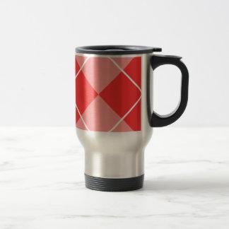 Rose & Pink Argyle Coffee Mugs