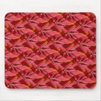 Rose Pink Burgundy Abstract Design Mouse Pad