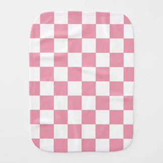 Rose Pink Checkerboard Burp Cloth