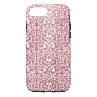 Rose Pink Floral Damask iPhone 7 Case