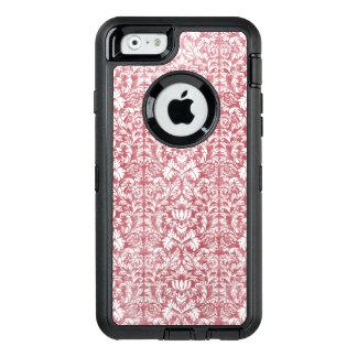 Rose Pink Floral Damask OtterBox Defender iPhone Case