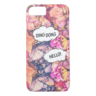 Rose Pink Flower Comics Apple iPhone 7, Phone Case