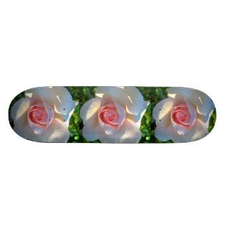 Rose Pink Flower Skate Board Deck