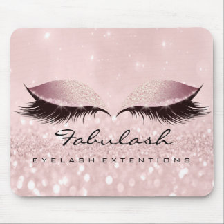 Rose Pink Glitter SPA Beauty Lashes Extension SPA Mouse Pad
