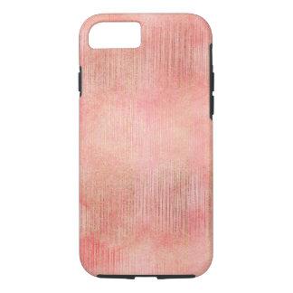 Rose Pink Gold Stripes iPhone 8/7 Case