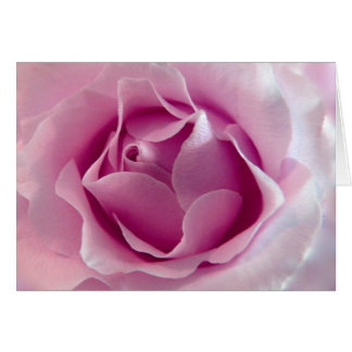 Rose Pink greeting card with poem