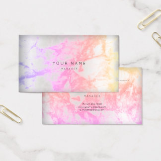 Rose Pink  Marble Gray Appointment Silver Stroke Business Card